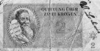 Regina Steiners currency from the Theresienstadt concentration camp