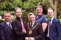 Liverpool homosexual Civic Lord Mayor 2014 Cllr Gary Millar accompanied by Peter Tachell and friends....