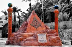 Masonic Pyramid Sculpture in Eilat Israel