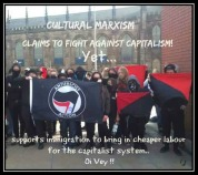 Racially motivated Zio-Antifa (gullible goy atheists) helping the Internationalist sustain a class division and usury.